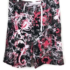 Oakley Floral Swim Trunks Paisley Surfing Shorts
